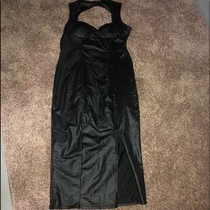 Dresses & Skirts - Trendy faux leather dress. S/M